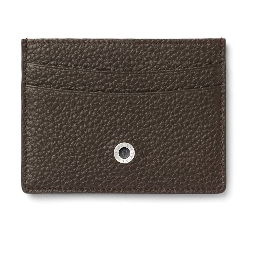 Graf-von-Faber-Castell - Two-sided credit card case Cashmere, dark brown