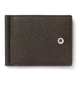 Graf-von-Faber-Castell - Credit card case with money clip Cashmere, dark brown