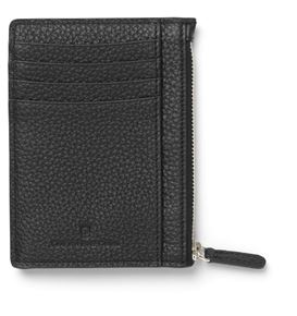 Graf-von-Faber-Castell - Credit card case with zipper Cashmere, black
