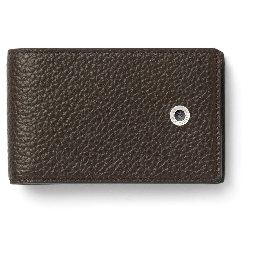 Graf-von-Faber-Castell - Small wallet Cashmere, dark brown