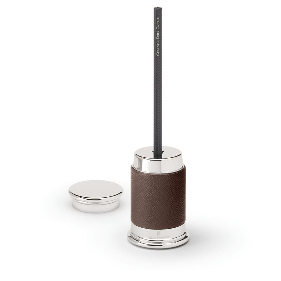 Graf-von-Faber-Castell - Sharpener Epsom, dark brown
