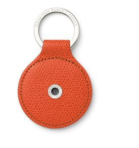 Graf-von-Faber-Castell - Key fob Epsom round, Burned Orange