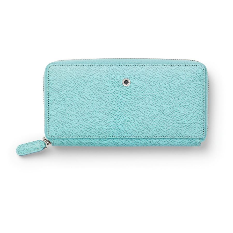 Graf-von-Faber-Castell - Ladies purse Epsom with zipper, Turquoise