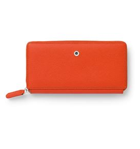 Graf-von-Faber-Castell - Ladies purse Epsom with zipper, Burned Orange