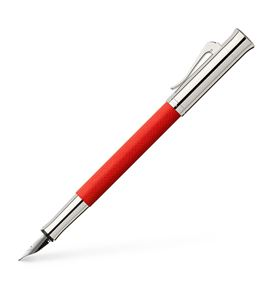 Graf-von-Faber-Castell - Fountain pen Guilloche India Red Medium
