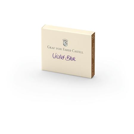 Graf-von-Faber-Castell - 6 ink cartridges, Violet Blue