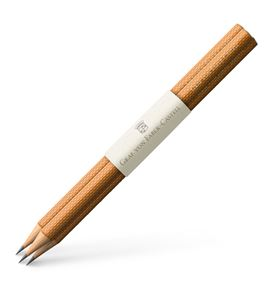 Graf-von-Faber-Castell - 3 graphite pencils Guilloche, Brown