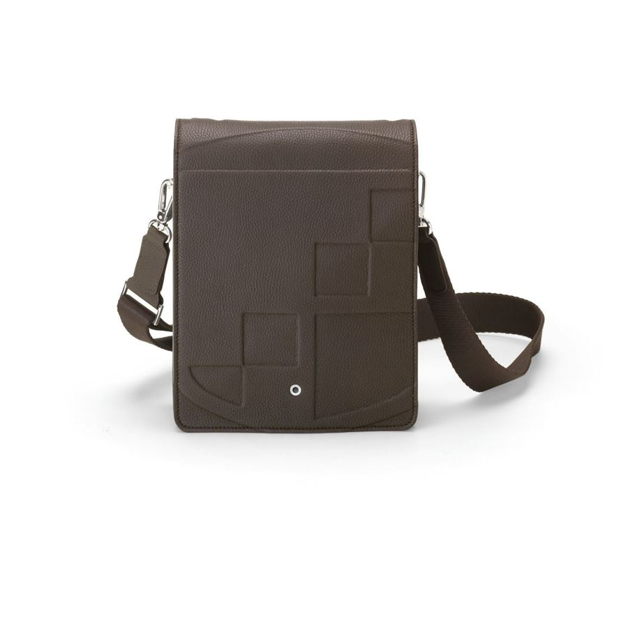 Graf-von-Faber-Castell - Messenger bag Cashmere, small, dark brown