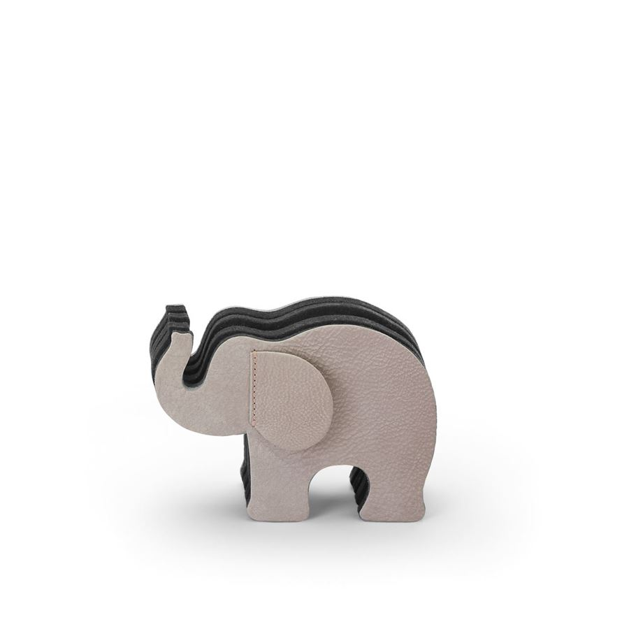 Graf-von-Faber-Castell - Pen holder Elephant Small, nubuck